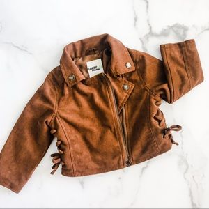Faux Suede Toddler Jacket